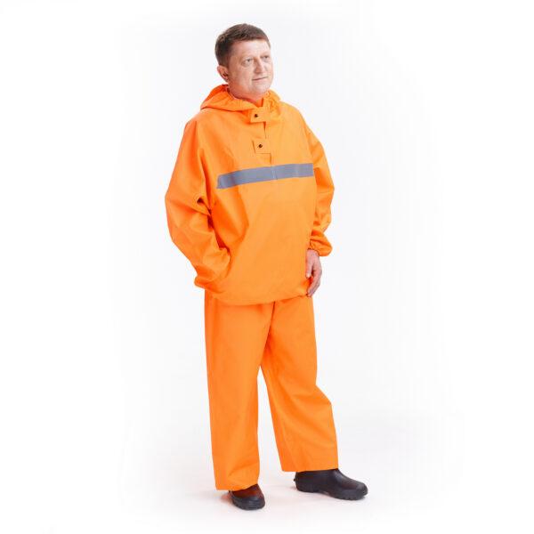 Костюм защитный специальный (куртка-анорак + полукомбинезон без сапог), цвет флуоресцентный арт. 218 КЗС 1 • ТД «БелФУТ»