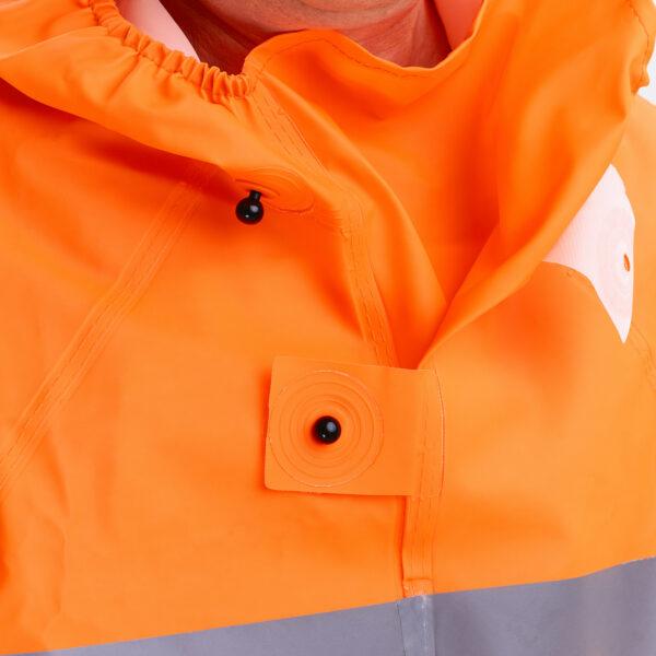 Костюм защитный специальный (куртка-анорак + полукомбинезон без сапог), цвет флуоресцентный арт. 218 КЗС 3 • ТД «БелФУТ»