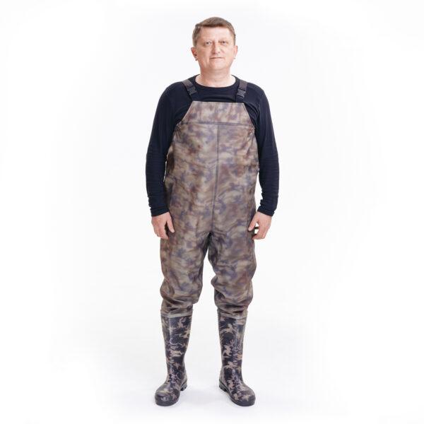 Полукомбинезон рыбацкий цвета камуфляж арт. 918 СРС камуфляж 1 • ТД «БелФУТ»