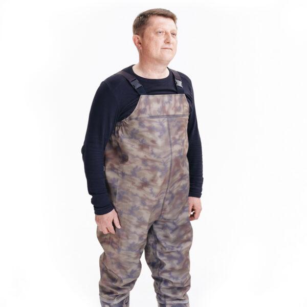 Полукомбинезон рыбацкий цвета камуфляж арт. 918 СРС камуфляж 2 • ТД «БелФУТ»