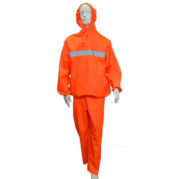 Костюм защитный специальный (куртка-анорак + полукомбинезон без сапог), цвет флуоресцентный 1 • ТД «БелФУТ»